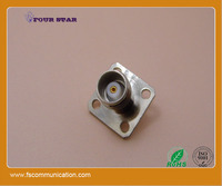 TNC female 19mm flange connector with receptacle