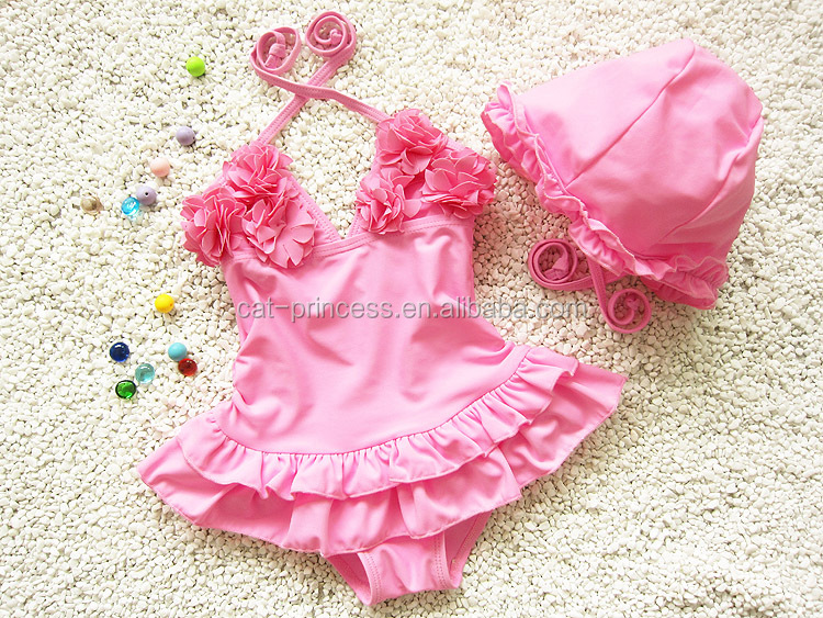 New arrival pink children bikini pictures