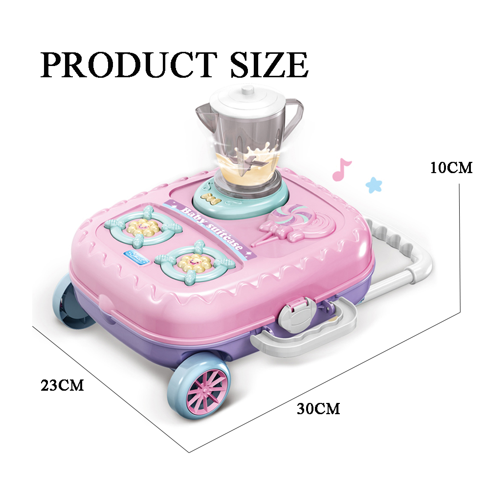 Musical simulation rotating fruit machine kids juicer kitchen play toy set