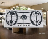 Built-in Inox high quality 5 burners gas cooker with CE