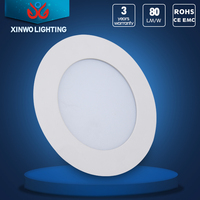 slim led flush mount ceiling panel light with european specification male plug wire for led indoor light