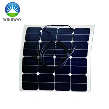 High Efficiency 50W Semi Flexible Solar Panel / Solar Module with Sunpower Solar Cells