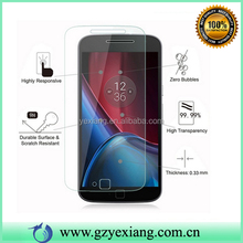 100% Full Size Super transparency 9H premium tempered glass screen protector for Moto G4