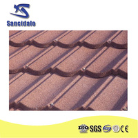 sancidalo Light weight strong factory stone coated metal roofing tile, zinc coated corrugated roofing, galvanized metal