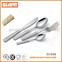 Indian style stainless steel gold plated cutlery