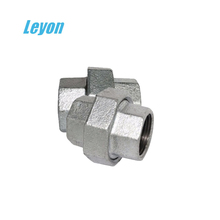 a105 galvanized malleable certificated union 330/340 conical gi pipe fittings union connector