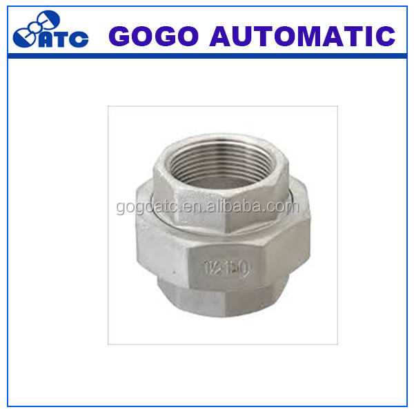 Ningbo factory hydraulic water oil Inox 42.4mm Stainless steel 304 pipe fittings union conical