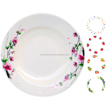 Hot Sale dinner time melamine plate cheap soup 100% disposable plastic plates