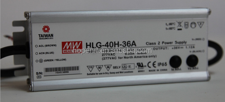 Genuine MEAN WELL HLG-40H-36A 40W 36V output LED DRIVER LED POWER SUPPLY