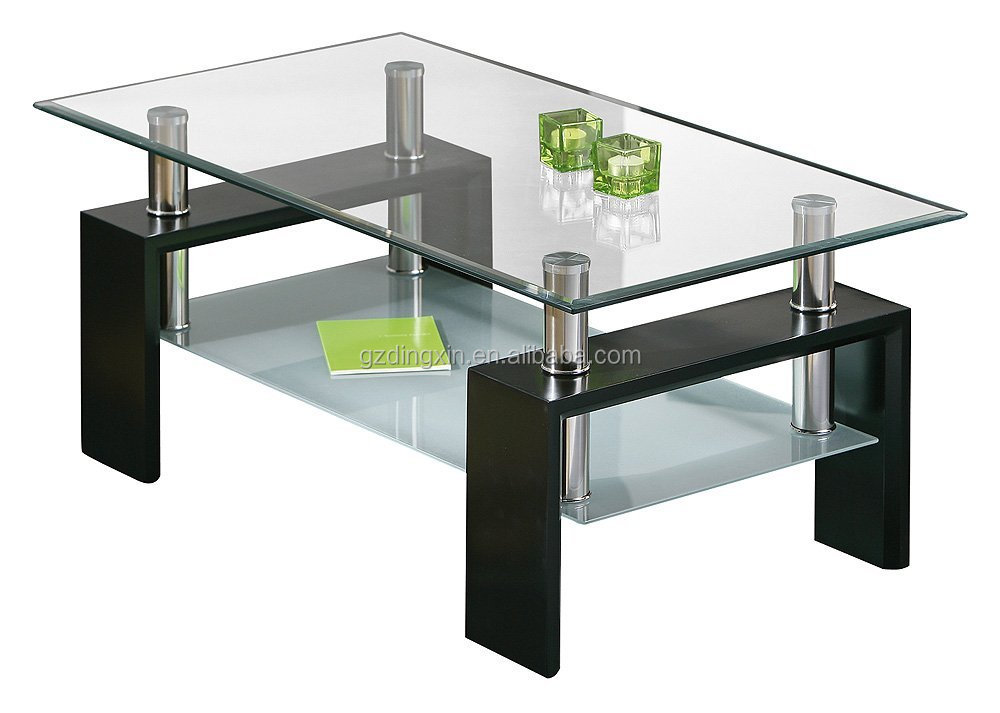 elegant cheap rectangle stainless steel coffee table glass top with metal frame