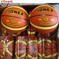 size 7# orange, multicolor rubber basketball, 12 panels, high quality customized balls