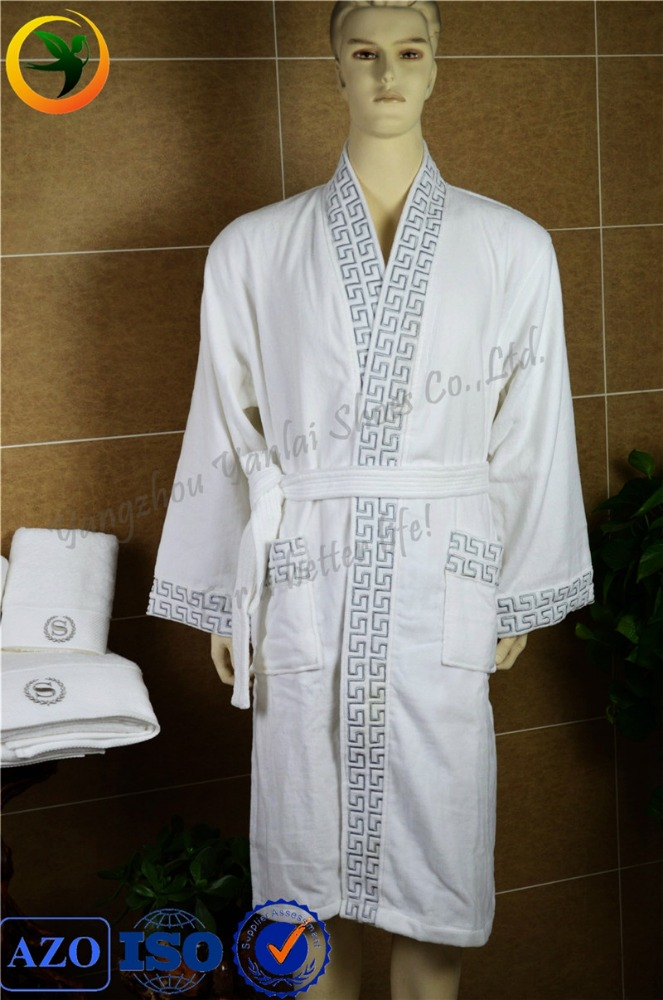 low price 100% cotton white waffle hotel bathrobe