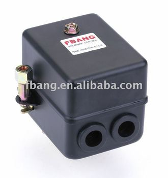 pressure control switch for air compressor steel housing