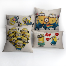 Popular Minion design throw pillows mordern linen cushion cover
