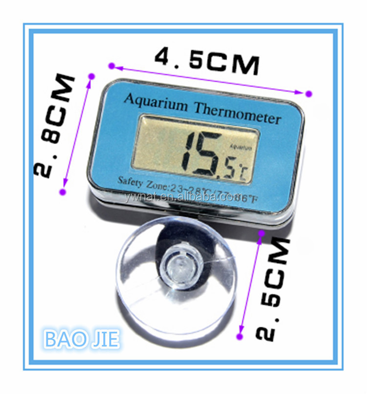 LCD Waterproof Thermometer, Digital Fish Tank Aquarium Thermometer