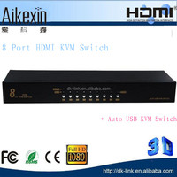 8 ports HDMI kvm switcher 8 usb ports auto usb kwm switch