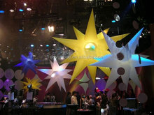 hot sale inflatable light star decoration with RGB LED light