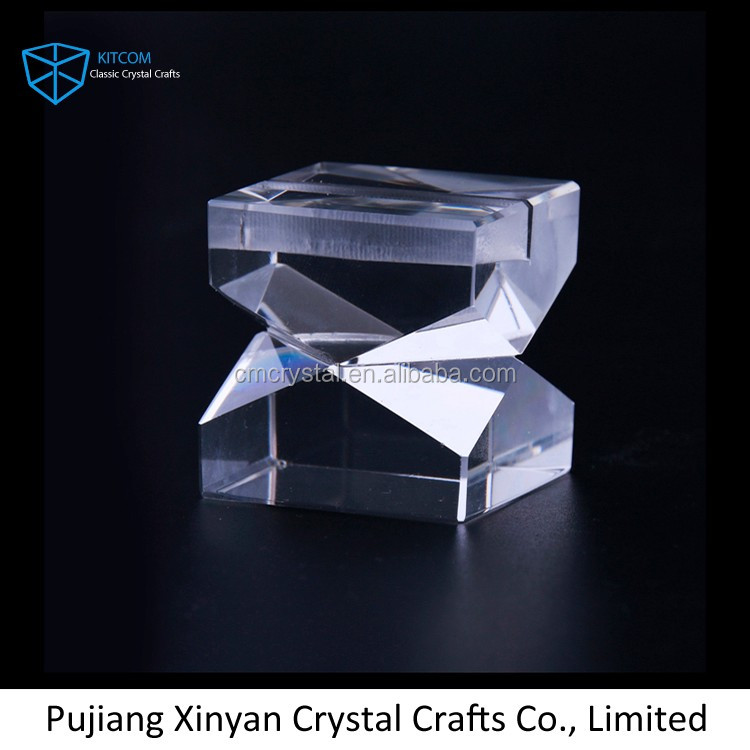 Office table decoration new design crystal name card holder/crystal business holder