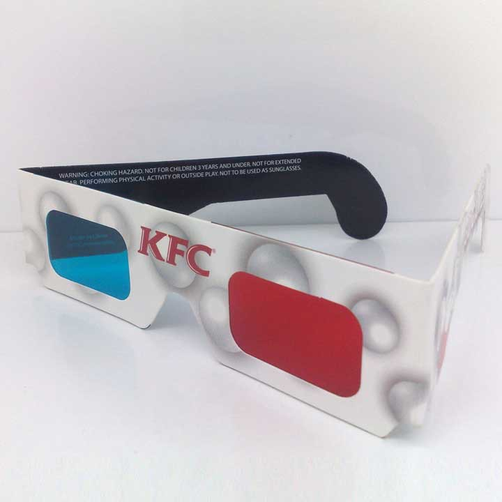 anaglyph 3d glasses red cyan film glasses with colorful printing