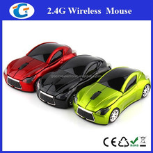 Christmas gifts car shape 2.4ghz wireless optical usb computer mouse