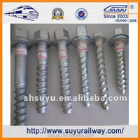 Suyu Railway Sleeper screw,rail bolt
