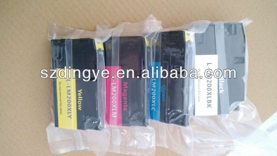 shenzhen factory price for lexmark 200xl compatible inkjet cartridge with chip