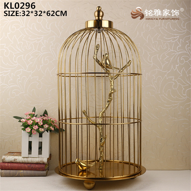 Garden outdoor decoration large tall bird cage metal craft collectible piece