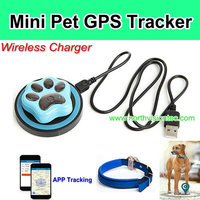 WIFI Mini Pet GPS Tracker, Wireless Charger,App Control,Waterproof IP66
