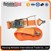 Easy to Use Logistic Ratchet Lashing Strap with Double J hook