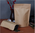stand up ziplock kraft paper bag/food kraft paper bag