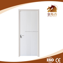 door manufacturer white color flush swing door, MDF and white primer finished wood door for office
