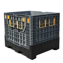 1200*1000*1000mm Heavy duty collapsible bulk plastic pallet container with folding doors