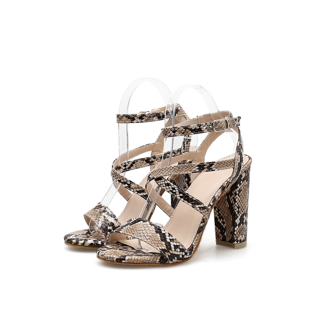 Wholesale Women Shoes <strong>Heels</strong> Snake Print High <strong>Heels</strong> For Ladies Shoes