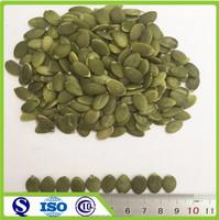 Shine skin green kernels of seeds pumpkin
