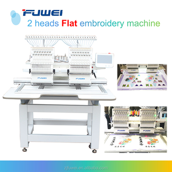 Fuwei 2 head embroidery machine price from embroidery machines supplier