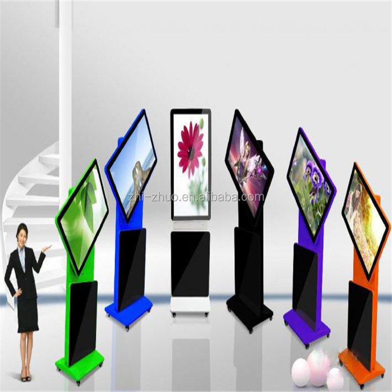 New product for 42 46 55 inch free standing rotating screen full HD lcd advertising display