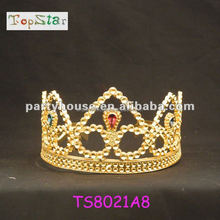 Newest golden Crystal Crown For Wedding