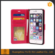 Factory direct wholesale pu leather mobile phone back case cover for iphone 6/7 plus