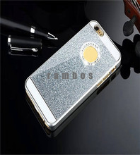 New Shiny Sparkling Starring Rhinestone Diamond Crystal Chromed Glitter Bling Hard Case Cover for iPhone 4 5 6 6 Plus