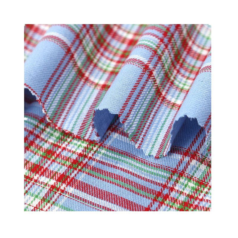spring and summer 100% cotton dyed plaid fabric girls thin garment fabric wholesale