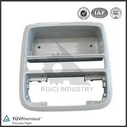 Mass injection molding plastic part for television cover and base