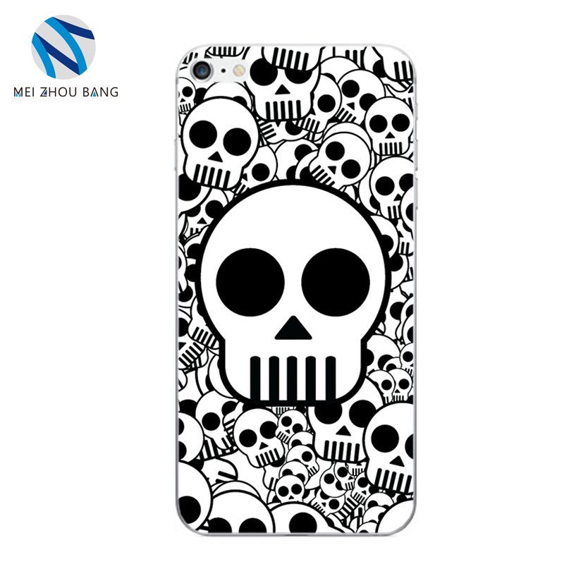 Halloween gift ! case for apple iphone 8 DIY soft shell custom printed skull cover TPU shockproof protective cover wholesale