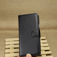 Super quality hot sale leather flip wallet case for htc one m7