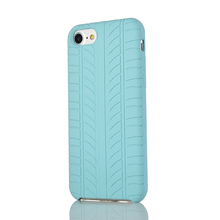 Antiskid tyre pattern shockproof silicone phone cover for iphone 8