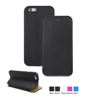 Vietnam Market Genuine Leather Mirofiber Black Business men Cheap Cell Phone Accessories for iPhone 6
