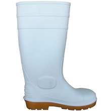 Hot sale low price knee high PVC work boots with steel