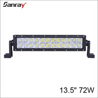 "Truck lights auto lamps 13"" 72W double row led light bar for off road"