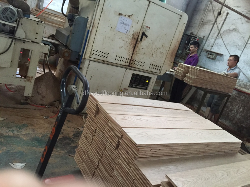 2015 multi spell finished chinese oak hardwood for Wood floor factory