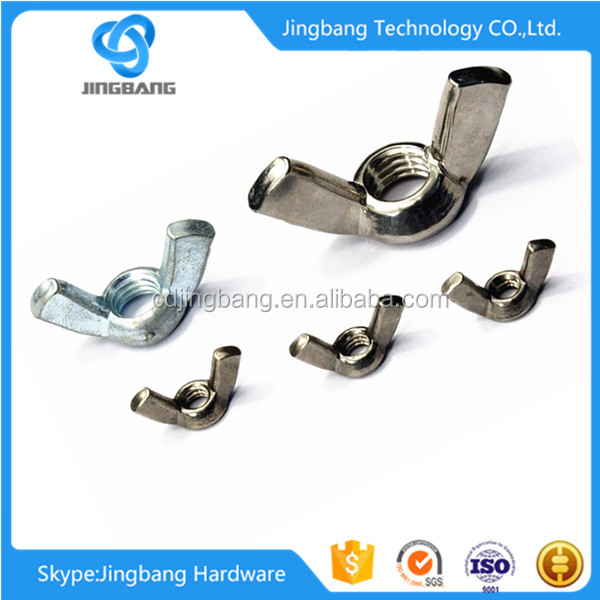 edged wing nut with different types of nuts bolts in alibaba con