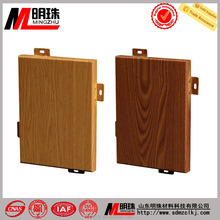 Fashion wood grain fluorocarbon roller coated with wood-textured aluminum panel for curtain wall and interior renovation